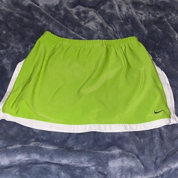 Lime Green Nike Tennis Skort